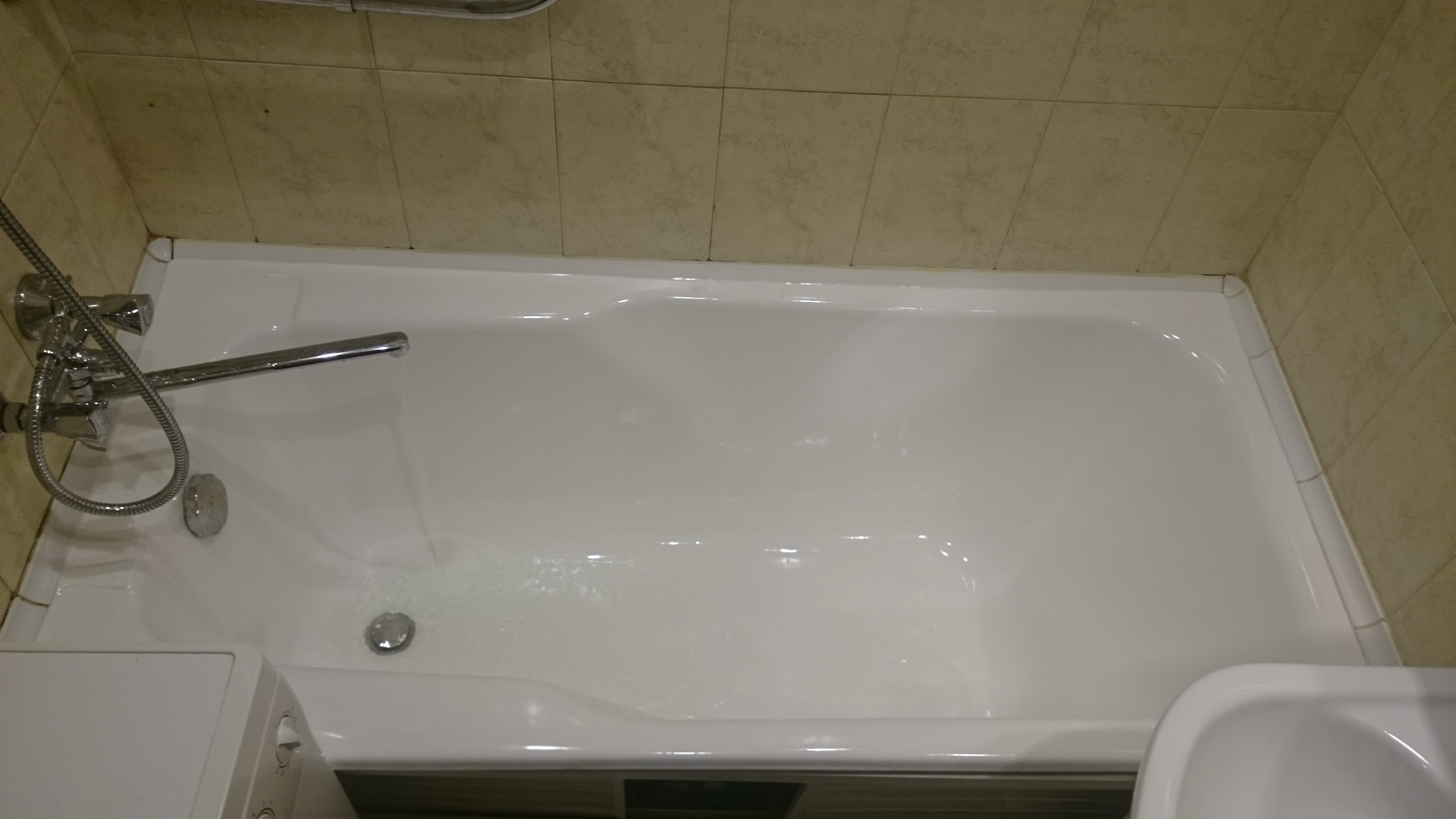 Конечный вариант ванны в Стрельне