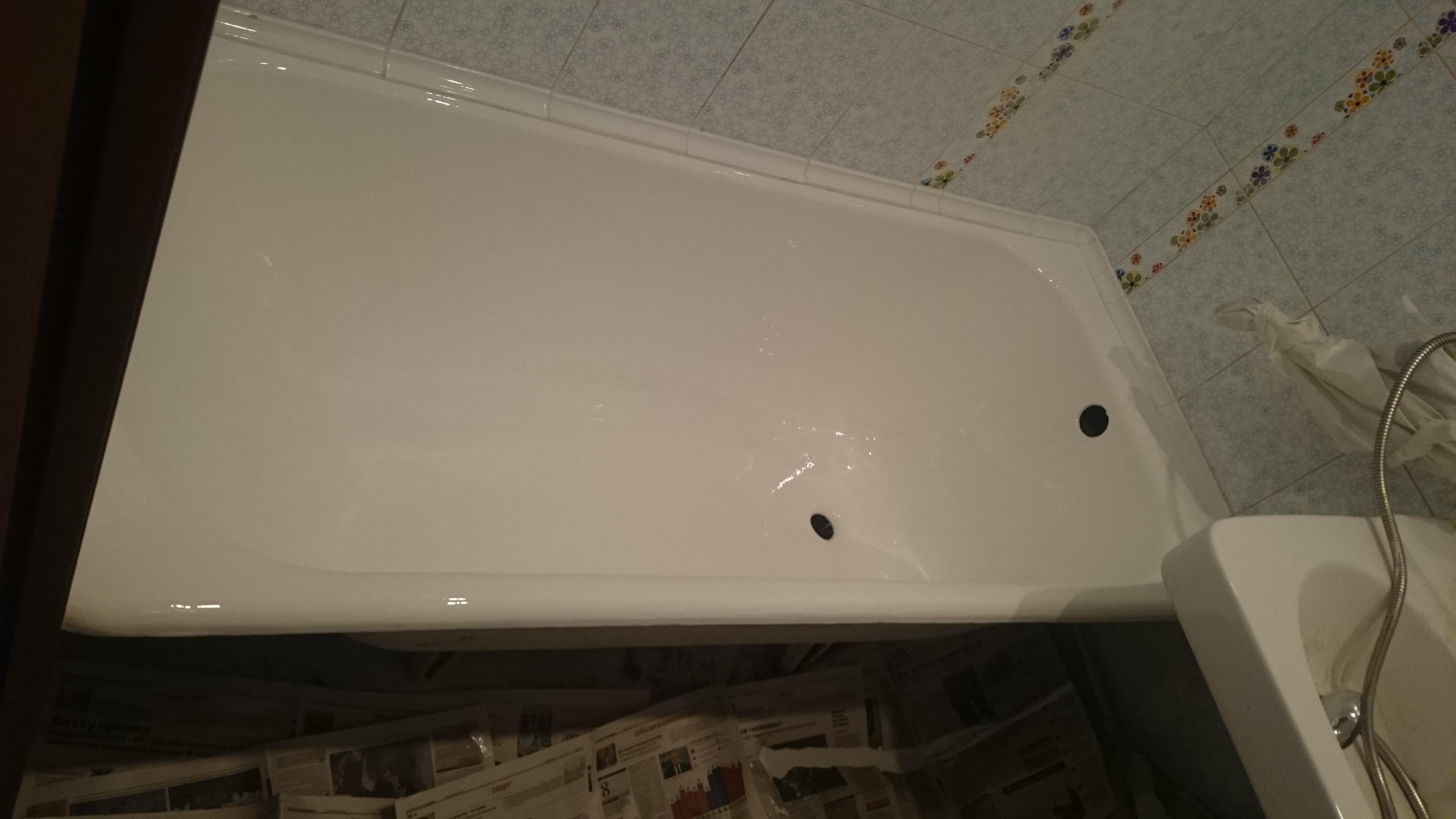 Полная вышлифовка ванны при реставрации - за и против