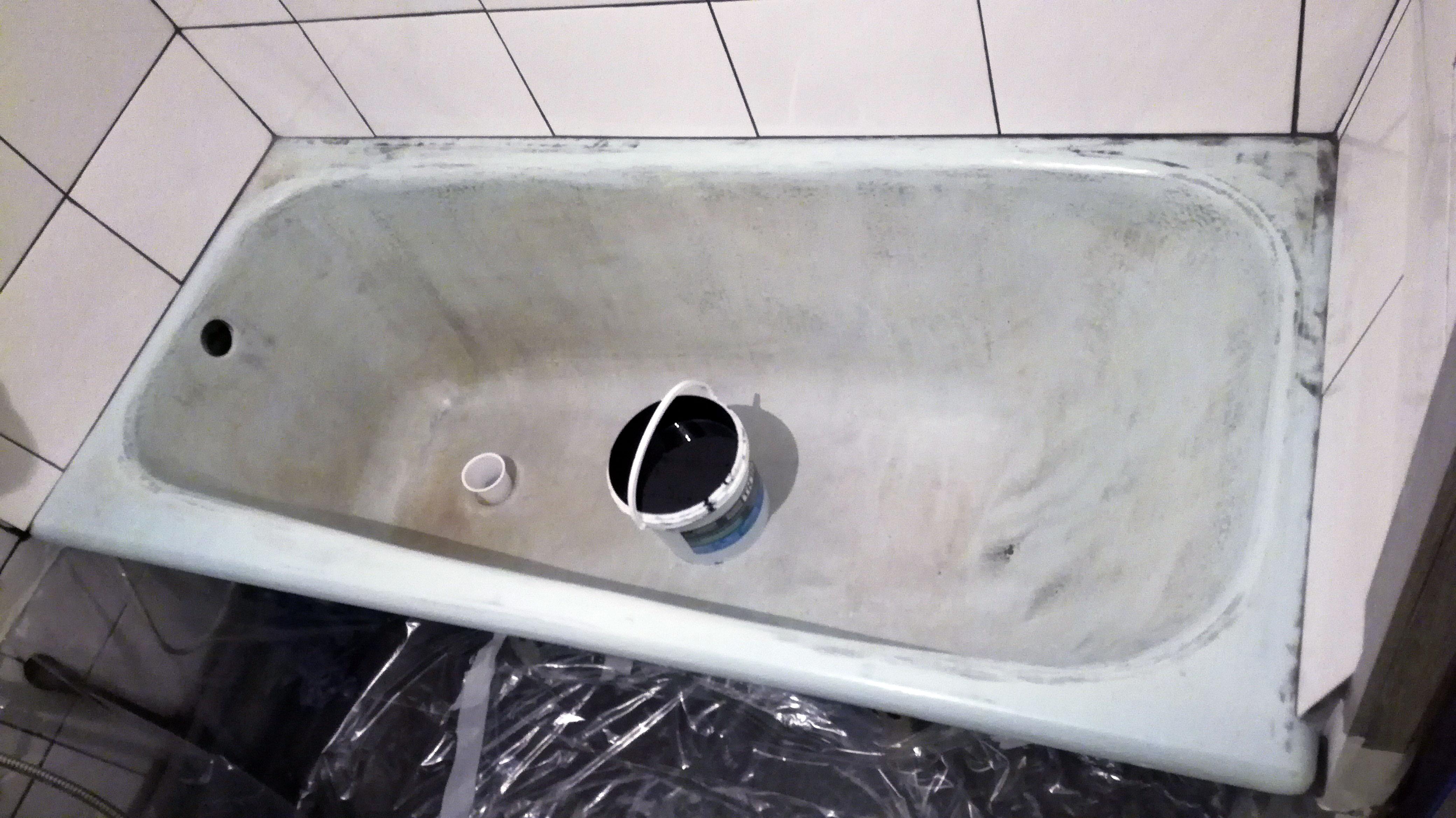 Ванна до реставрации шунгитом